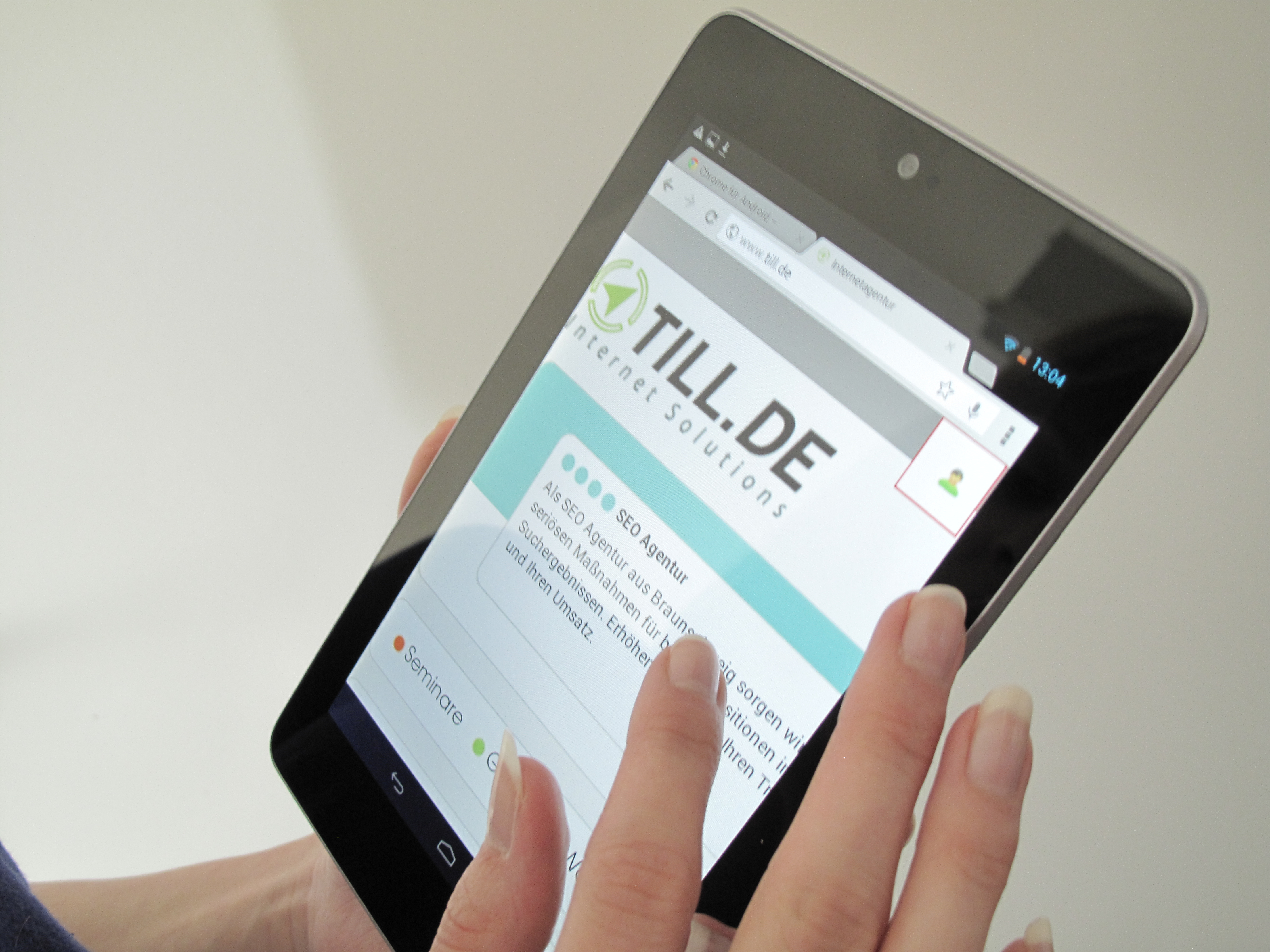 Google Nexus 7 im Gebrauch