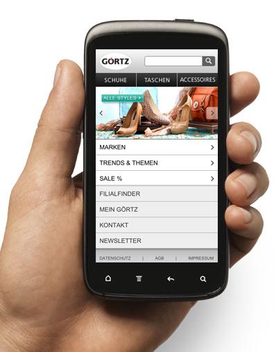 Website für Smartphone optimiert