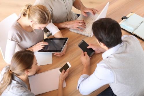 Mobilgeräte in täglicher Verwendung