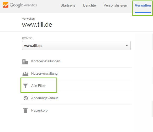 TILL.DE-Referrer-Spam-Filteransicht
