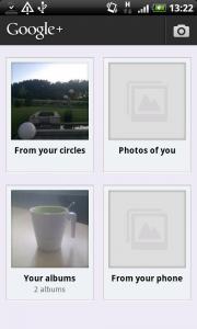 Albenverwaltung in der Google+ App