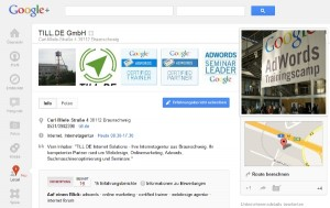 Google Plus Local TILL.DE Gmbh