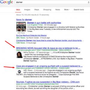 Dorner-Google-Suche