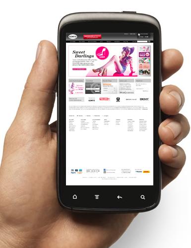 Website nicht für Smartphone optimiert
