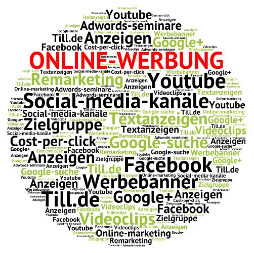 Cloudzum Thema Online-Werbung
