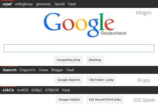 Google-Einstellungen Sprache