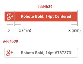 Google-Schaltflächen-Farbe-Maße-und-Abstand